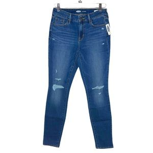 OLD NAVY Blue Distressed Pop Icon Skinny Jeans 8L